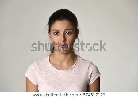Portre üzücü model güzellik sarışın kız Stok fotoğraf © MilosBekic