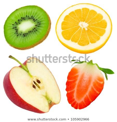 зеленый красный яблоки грейпфрут белый Сток-фото © vkraskouski