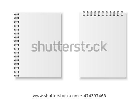 проволоки · спиральных · изолированный · белый · телефон · группа - Сток-фото © devon