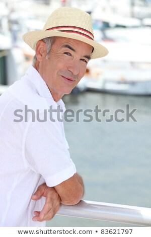 пенсионер свинина лет красный яхта Motor Сток-фото © photography33