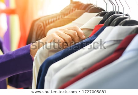 Kleurrijk mode abstract ontwerp Blauw weefsel Stockfoto © lunamarina
