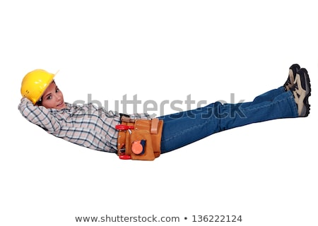 Tradeswoman floating in the air Stock photo © photography33