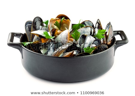 isolated mussels stock photo © m-studio