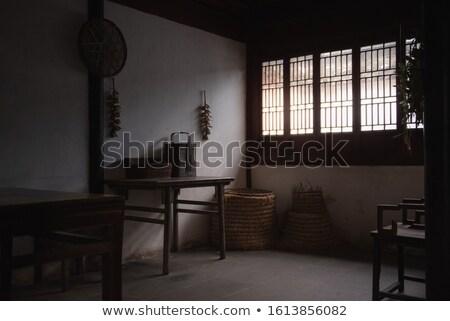 Chinese traditioneel keuken brand muur licht Stockfoto © kawing921