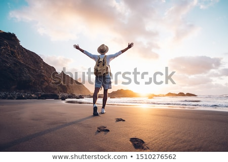 The beach guy stock photo © stockyimages