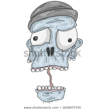 funny monster fisherman stock photo © rastudio