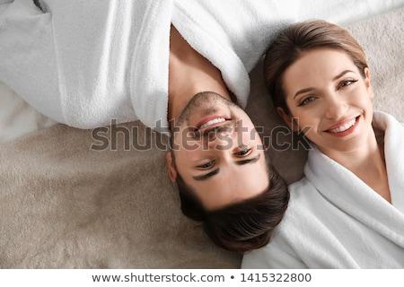 пару пляж стороны улыбка человека морем Сток-фото © photography33