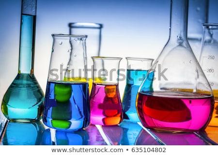 liquid in glass tubes stock photo © compuinfoto