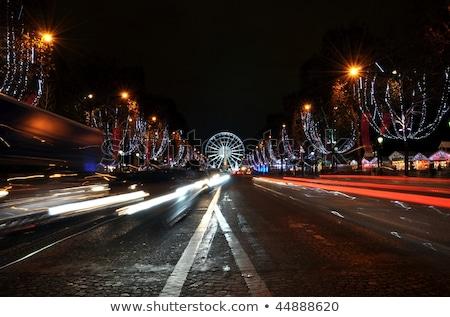 The Champs-Elysées avenue in Paris Stock photo © dutourdumonde