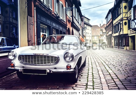 Retro car on the road. Stock photo © Kurhan