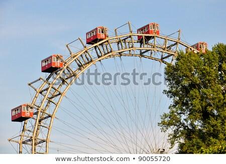 detail of ferris wheel at vienna prater stock photo © franky242