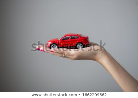 Hands holding the model of car Stock photo © a2bb5s