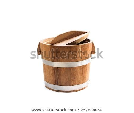 wooden bin isolated stock photo © witthaya
