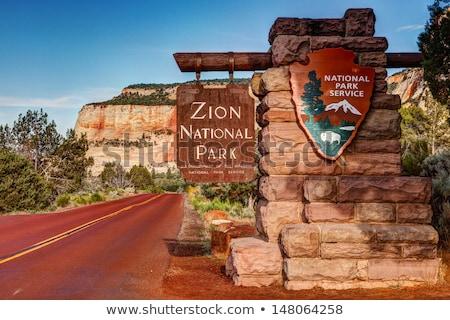 zion national park sign stock photo © jaymudaliar