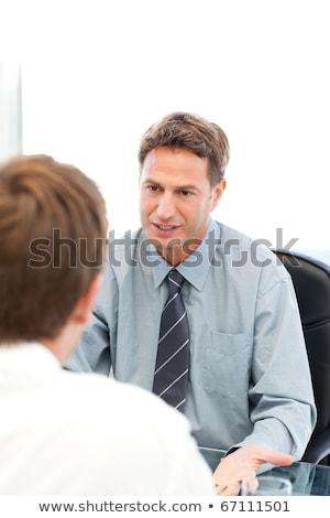 Charismatische manager interview werknemer kantoor gelukkig Stockfoto © wavebreak_media