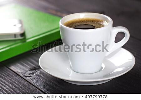 пустая страница пусто Кубок кофе пер кофе Сток-фото © shutswis