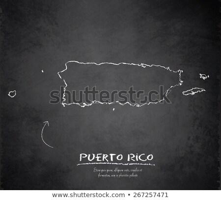 Pokaż · Puerto · Rico · tablicy · rysunek - zdjęcia stock © vepar5