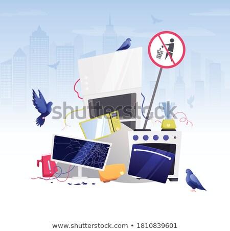 Emergencia roto computadoras defectuoso ordenador servidor Foto stock © OleksandrO