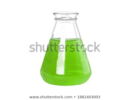 test tube with geen chemical liquid Stock photo © shutswis
