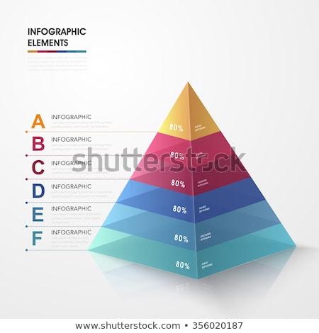ピラミッド グレー 建設 デザイン オレンジ ストックフォト © Quka