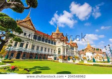 buddha statue in grand palace bangkok thailand stock photo © travelphotography