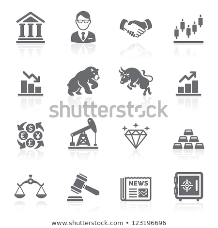 vector · icono · oro · escala - foto stock © zzve