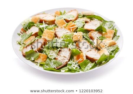 frango · grelhado · salada · césar · frango · azul · carne · salada - foto stock © hojo