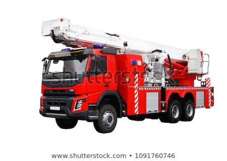 пожарная машина старые пожарная машина белый грузовика Сток-фото © smuki