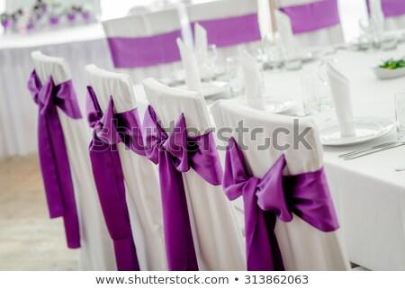 Stoel dekken lint boeg Stockfoto © KMWPhotography