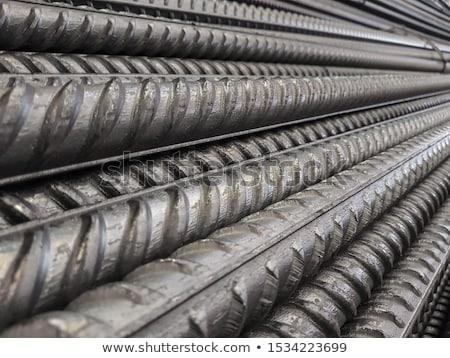 Foto stock: Aço · barras · construção · textura
