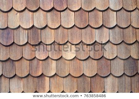 Wooden shingles texture Stock photo © 5xinc
