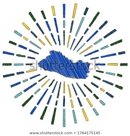 Bandeira El Salvador mão cor país estilo Foto stock © claudiodivizia