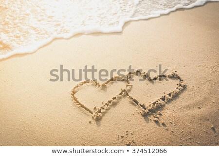 символический · сердце · песок · можете · используемый · морем - Сток-фото © nelosa