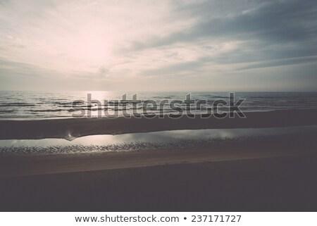 Empty Beach in Autumn Stock photo © tainasohlman
