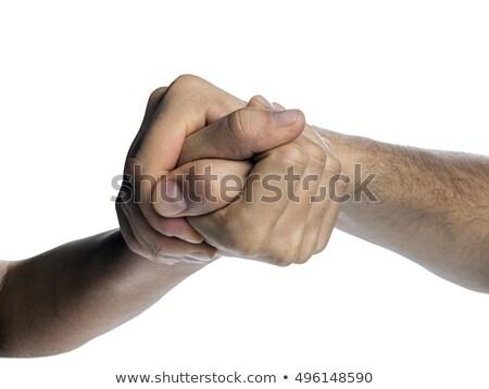 Arm worstelen mannelijke vrouwelijke collega's business paar Stockfoto © photography33