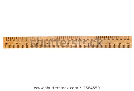 A 30 cm wooden ruler, isolated on a white background. Stock photo © latent