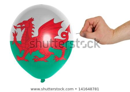 Balão bandeira país de gales pop política Foto stock © vepar5
