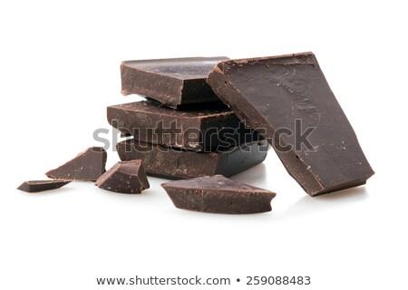 slices of white and dark chocolate Stock photo © Peredniankina