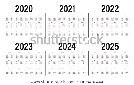 wall calendar with the number of days Stock photo © mizar_21984
