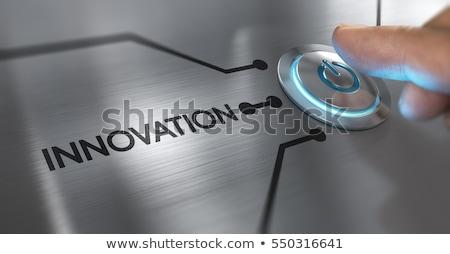 innovation button Stock photo © burakowski