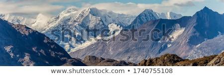 Alaska montanas paisaje nubes hierba naturaleza Foto stock © saddako2