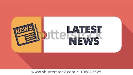 media news concept in flat design on scarlet background stock photo © tashatuvango