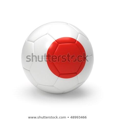 soccer ball with japan flag stock photo © m_pavlov