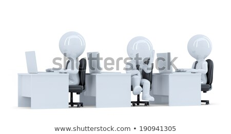 Bored office worker. Isolated. Contains clipping path Stock photo © Kirill_M