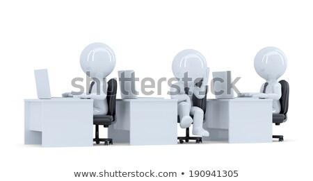 3D · witte · mensen · overwerkt · bestanden · geïsoleerd · witte - stockfoto © kirill_m