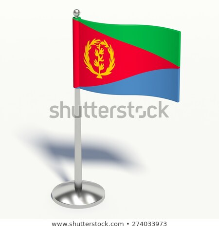 Эритрея небольшой флаг карта избирательный подход фон Сток-фото © tashatuvango