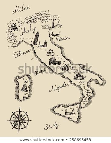 Schets Italië ingesteld vector vintage eps Stockfoto © kali