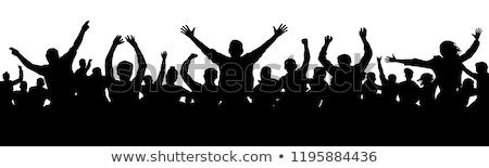 crowd silhouettes stock photo © derocz