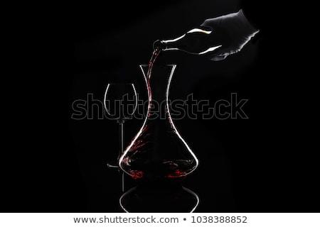 De · ober · schone · glas · restaurant · bar - stockfoto © pedrosala