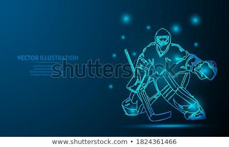 Stockfoto: Spelers · achtergrond · hockey · helm · games